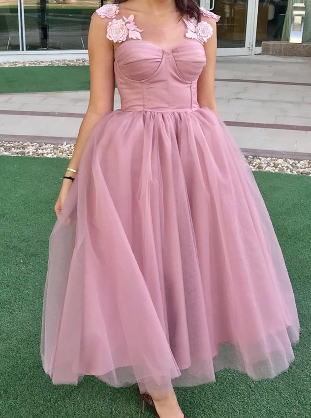 Pink tule dress